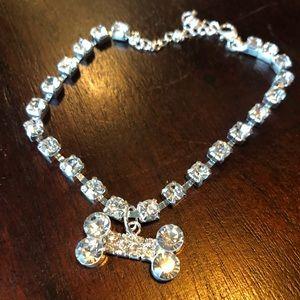 Small dog collar blingy diamonds